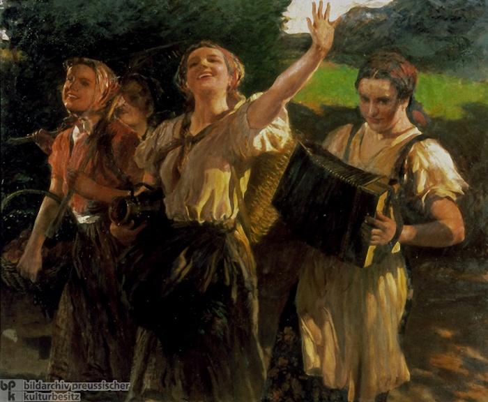 Leopold Schmutzler. Working Maidens. 1940 г.