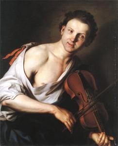 Ян Купецкий Юноша со скрипкой