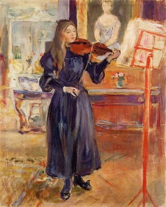 Берта Моризо. Урок музыки