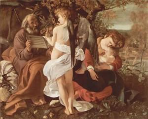 Микеланджело Меризи де Караваджо. Отдых на пути в Египет