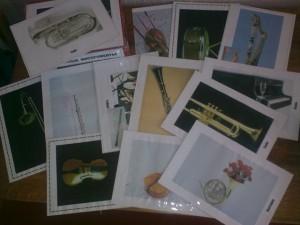 Карточки с изображением музыкальных инструментов