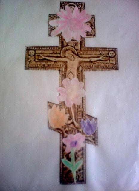 """Поделка """"Крест"""". Знакомство с распятием Христовым"""