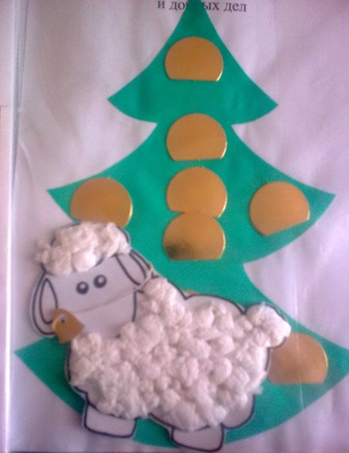 """Поделка """"Непослушная овечка"""". Зимнее Дерево умных мыслей и добрых дел"""