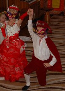 Танец придворных, принца и принцессы