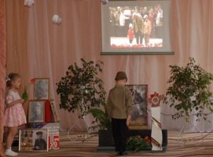 Дети входят  под фильм «От героев седых времен»