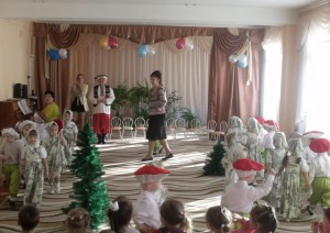 Танец березок и грибочков