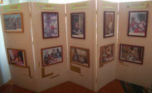 """В выставочном зале государственного учреждения образования """"Ясли-сад №1 г.Ельска"""". Пасха в произведениях изобразительного искусства."""