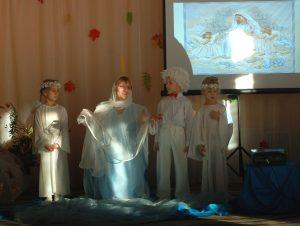 Ангел 2 - А что человек делает? Богородица - Он радуется. У него сегодня праздник.